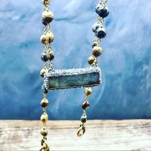 Handmade labradorite necklace with crystals & GemsBoutique for sale